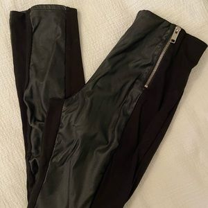 Faux leather high waisted legging